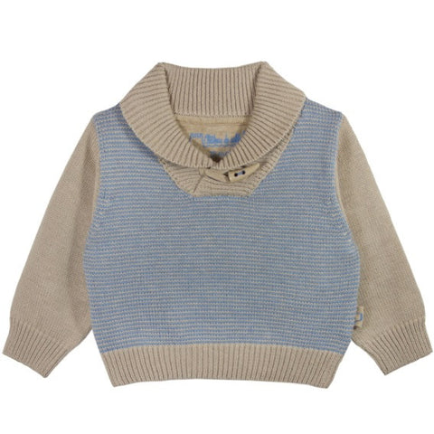 Cotswold shawl collar jumper camel