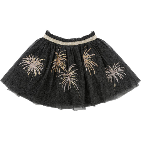 Black Tutu Skirt With Gold Detailing