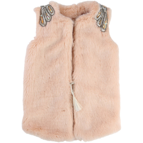 Pink Gillet With Shoulder Detail