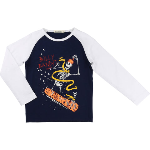 Long-Sleeved Snowboarding Skeletons Tee