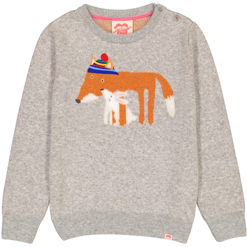 Copenhagen Heather Grey Fox & Rabbit Knit Jumper