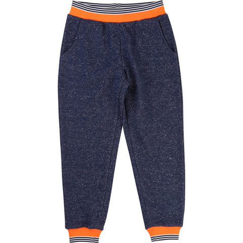 Sweat pants with contrast stripe trims