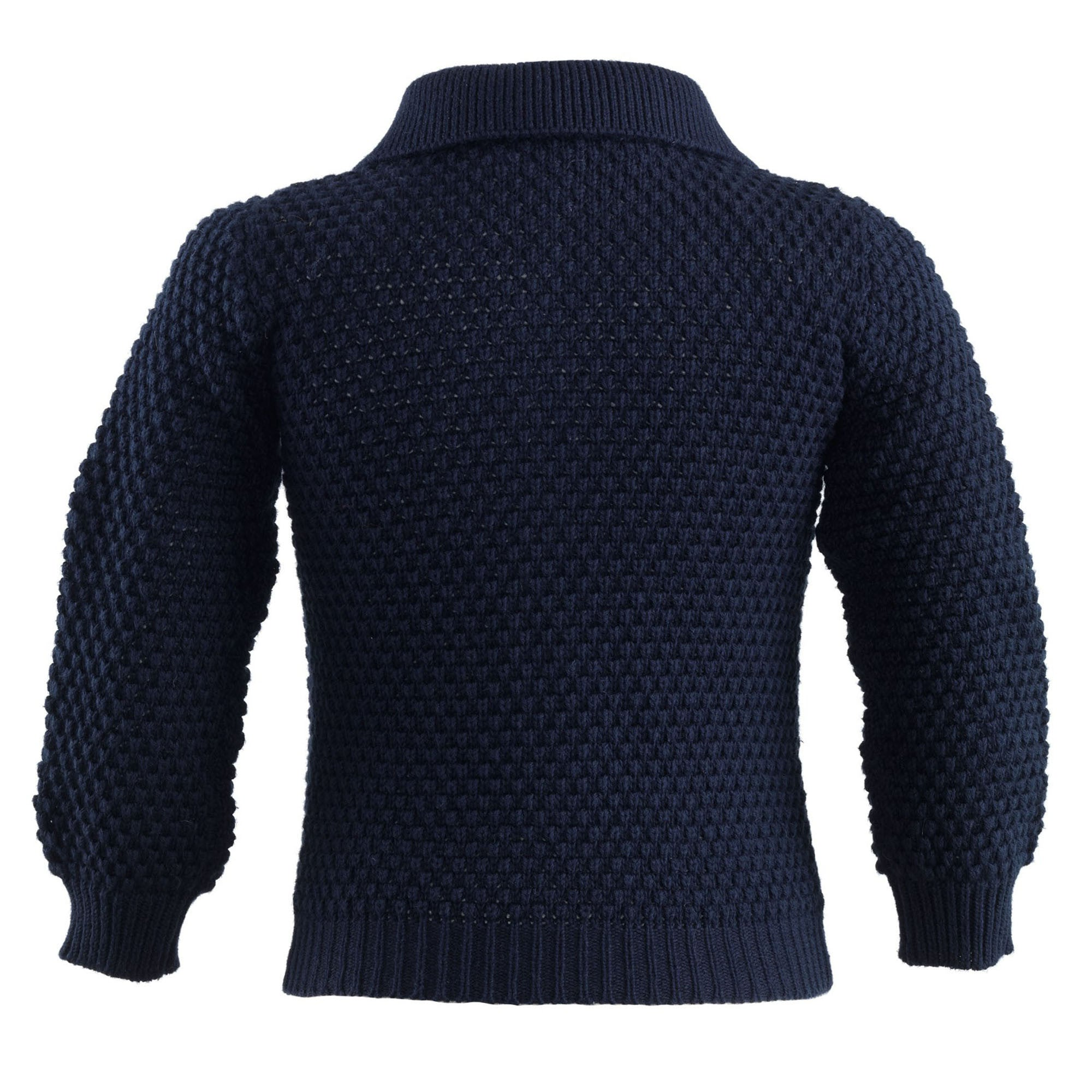 Navy Moss Stitch Cardigan
