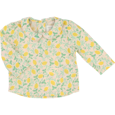 Lemon Print Jersey Blouse