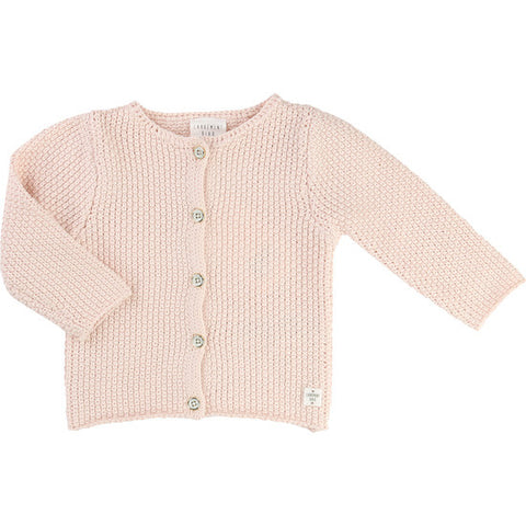 Pale Pink Knitted Cardigan