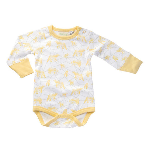 Galaxy Yellow Long-Sleeved Bodysuit