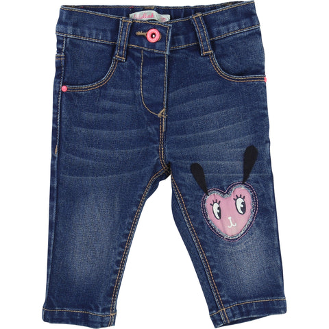 Blue Jeans With Knee Design