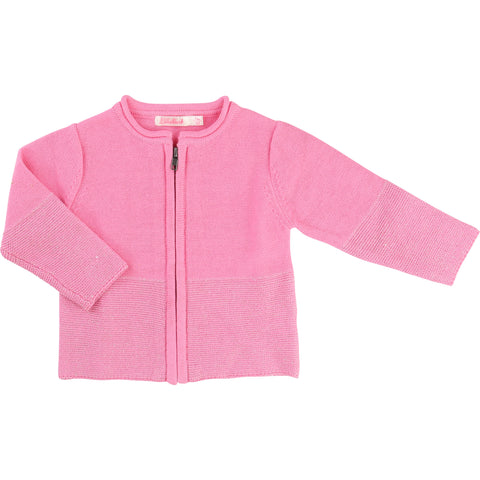 Pink Cardigan With Cat Design Back