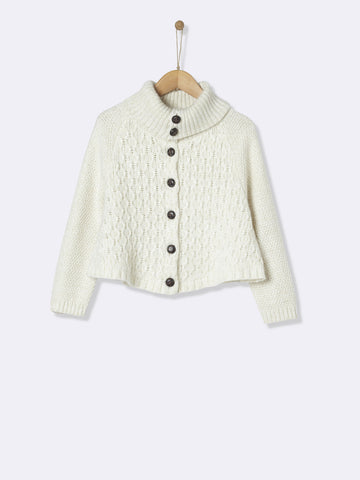 Cape Style Cream Cardigan