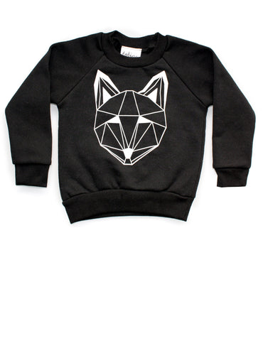 Just Call Me Fox Black Sweatshirt