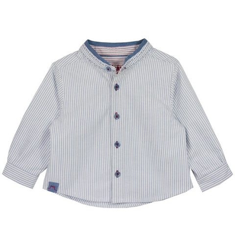 Elysee Shirt with Mao Collar White