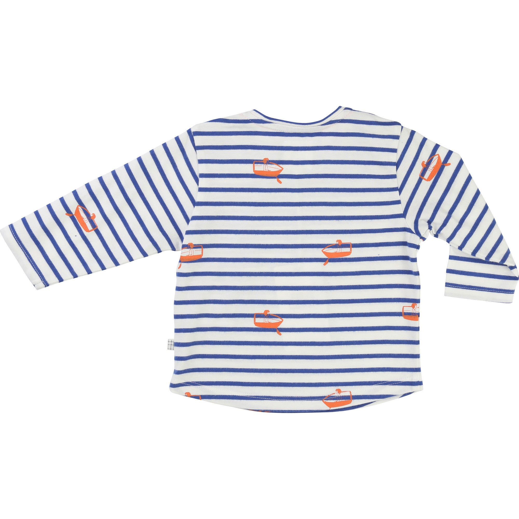 Striped boat print tee