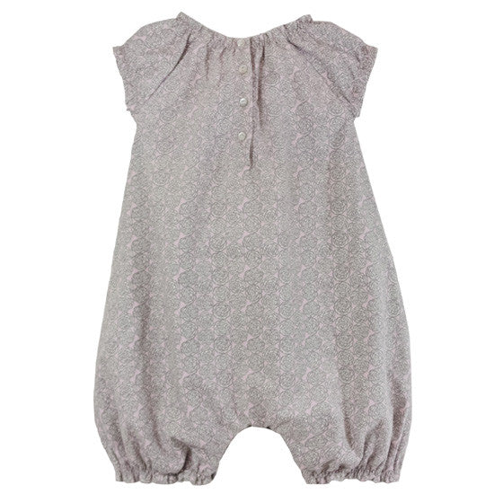 Liberty Print Romper Grey