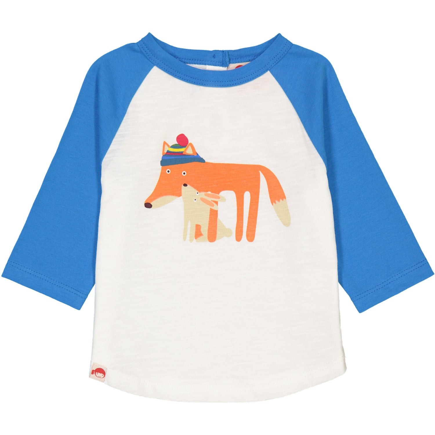 Fox & Rabbit Blue Raglan Tee