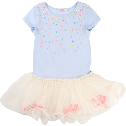 Pale Blue Dress With Tutu Skirt