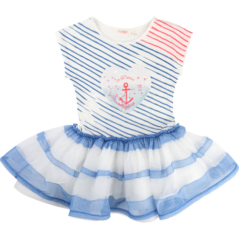 Blue And White Tutu Dress