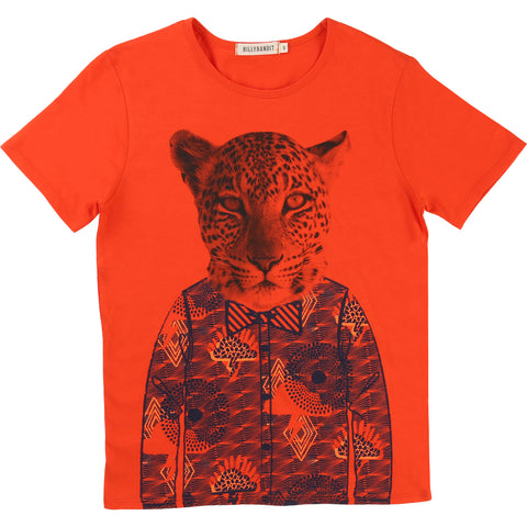 Red Tee With Tiger Tee