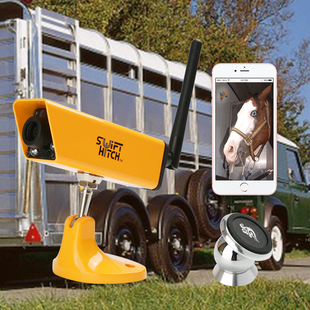 Swift Hitch SH04 Application for Baler Watching and Horse Transporting in Horse Trailer