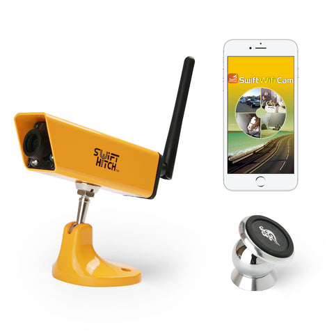 Swift Hitch SH04 - Water Resistant Trailer/ RV / Farm machine Camera System (iOS,Android Device Supported)