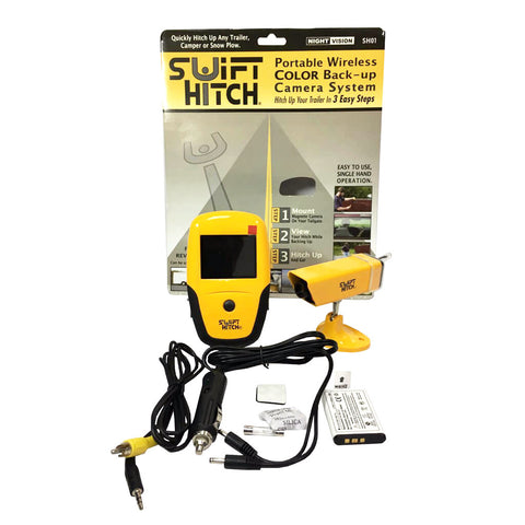 SWIFT HITCH PORTABLE WIRELESS COLOR BACK UP CAMERA SYSTEM SH01