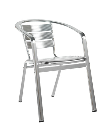 Café chairs Aluminium chair with double arm