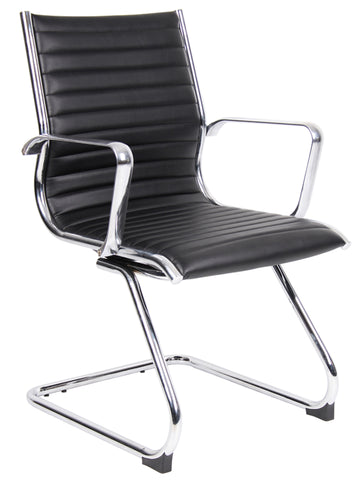 Executive & managers seating Bari leather faced visitors chair