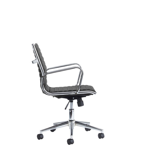 Executive & managers seating Bari medium back leather faced executive chair