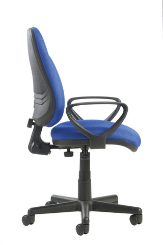 Task & operator seating Bilbao lumbar fabric operator chair with fixed arms