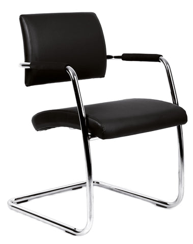 Conference & meeting seating  Bruge soft leather faced meeting chair