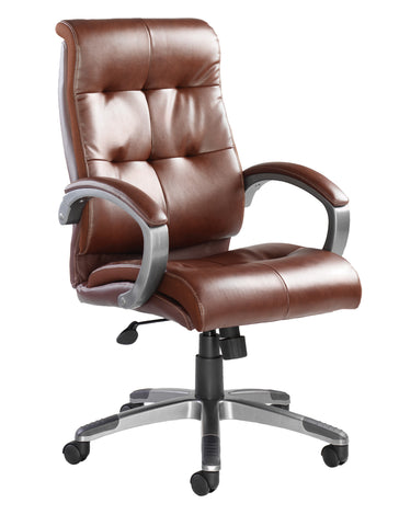 Executive & managers seating Catania leather faced managers chair