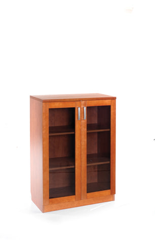 Concerto Low cupboard with glass doors