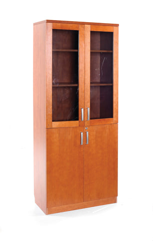 Concerto Tall cupboard with glass doors