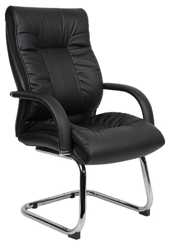 Executive & managers seating Derby leather faced visitors chair