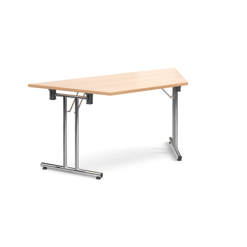 Deluxe folding leg meeting tables Trapezoidal folding leg tables