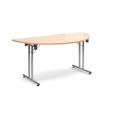 Deluxe folding leg meeting tables Semi circular folding leg tables