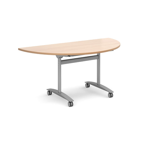 Fliptop meeting tables Semi circular fliptop tables
