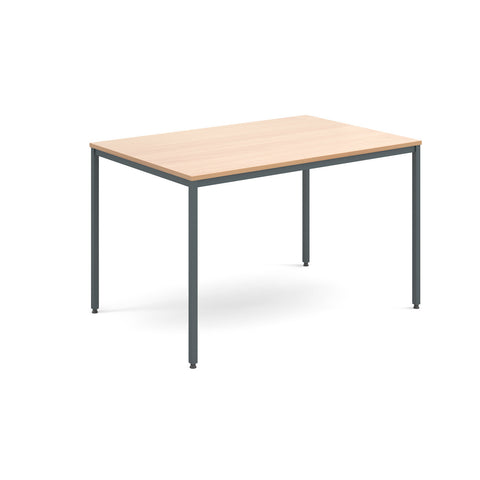 Flexi-tables Rectangular flexi-table with graphite frame