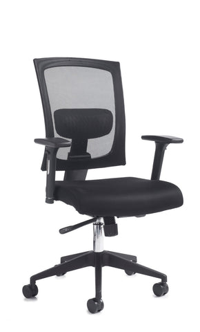 Task & operator seating Gemini 200 fabric mesh task chair with arms no headrest