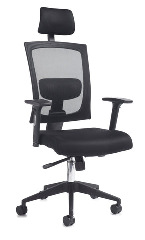 Task & operator seating Gemini 200 fabric mesh task chair with arms and headrest