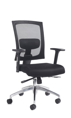 Task & operator seating Gemini 300 fabric mesh task chair with arms no headrest