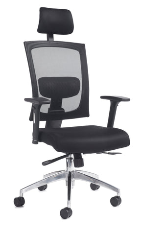 Task & operator seating Gemini 300 fabric mesh task chair with arms and headrest