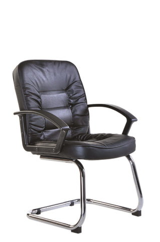 Executive & managers seating Hertford leather faced visitors chair