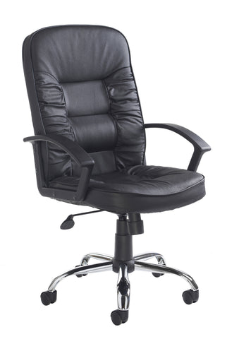 Executive & managers seating Hertford leather faced managers chair