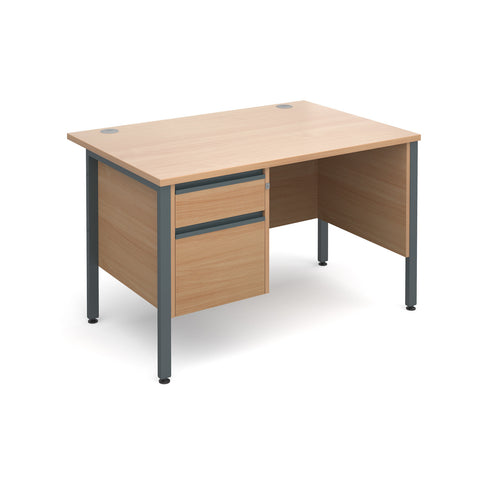 Maestro25 GL Straight desks with 2 drawer pedestal