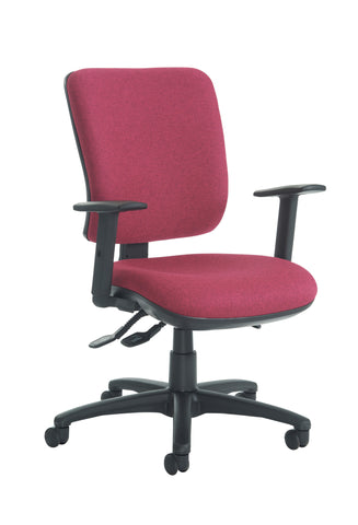 Task & operator seating Senza high back with adjustable arms
