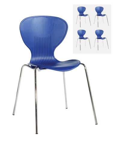 Café chairs Sienna one piece shell chair