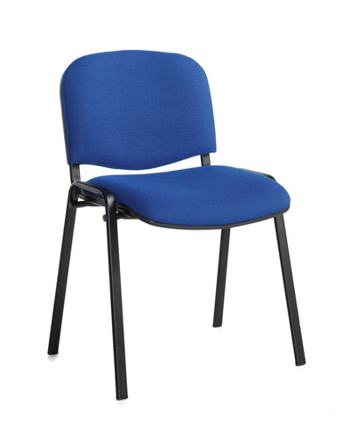 Conference & meeting seating  Fabric black frame stacking chair with no arms