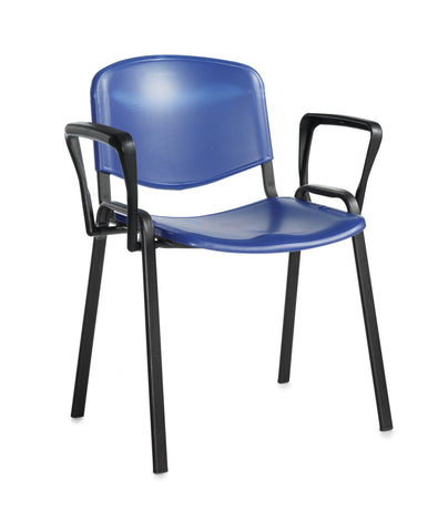 Conference & meeting seating  Plastic stacking chair with arms