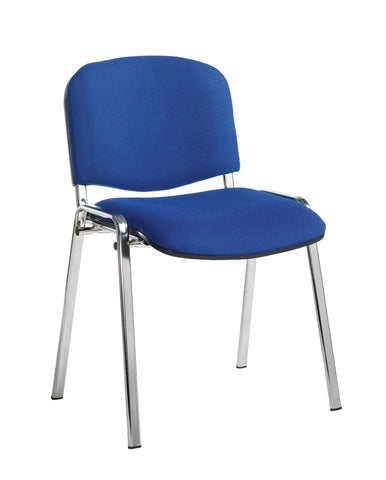 Conference & meeting seating  Fabric chrome frame stacking chair with no arms