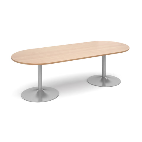 Trumpet base Radial end boardroom tables